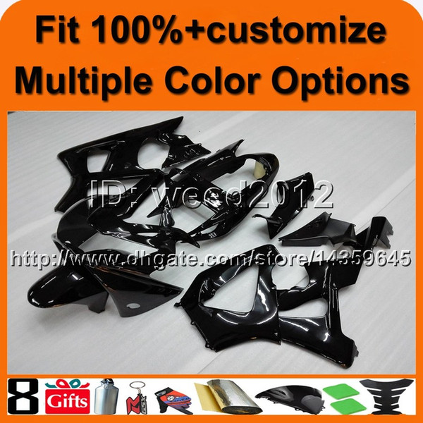 23colors+8Gifts Injection mold BLACK aftermarket motorcycle cowl for HONDA CBR929RR 2000-2001 CBR 929 RR 00 01 ABS Plastic Fairing