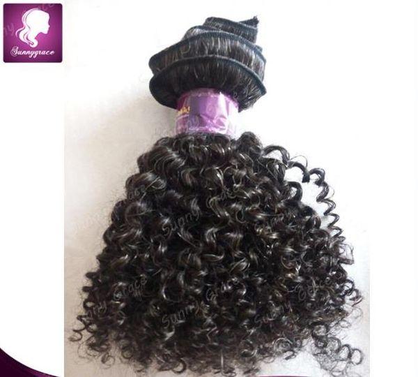 Wholesale virgin Brazilian hair loose wavy remy human hair weaving 1pcs tight curly sunnygrace short hair