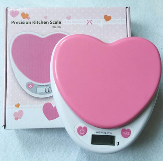 5000g X 1g 5kg Heart Design Pocket Electronic Digital Jewelry Gold Scales  Weighing Balance Kitchen Scales