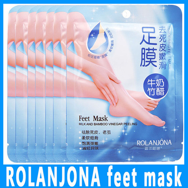 ROLANJONA máscara para pies Peeling para pies de bebé Renovación máscara para pies Eliminar la piel muerta Calcetines exfoliantes suaves Cuidado de los pies Calcetines para pedicura