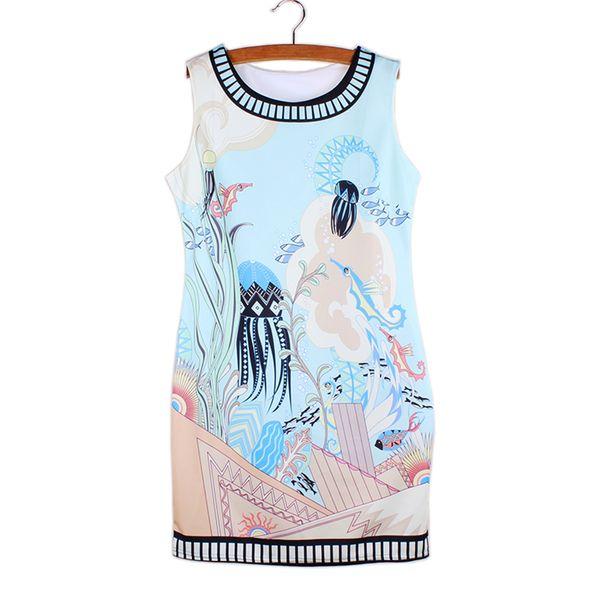 c8c65ef1cde Factory wholesale Vogue girl mini vestidos vintage print 2016 new fashion  women summer clothes Western novelty