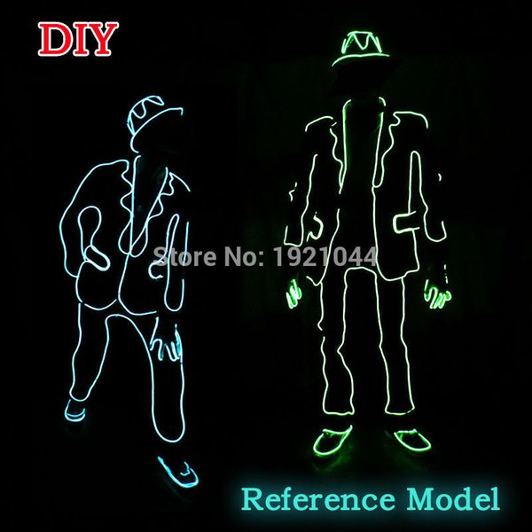 2017 New El Wire Suits Fashion Led Clothes Luminous Costumes Glowing ...
