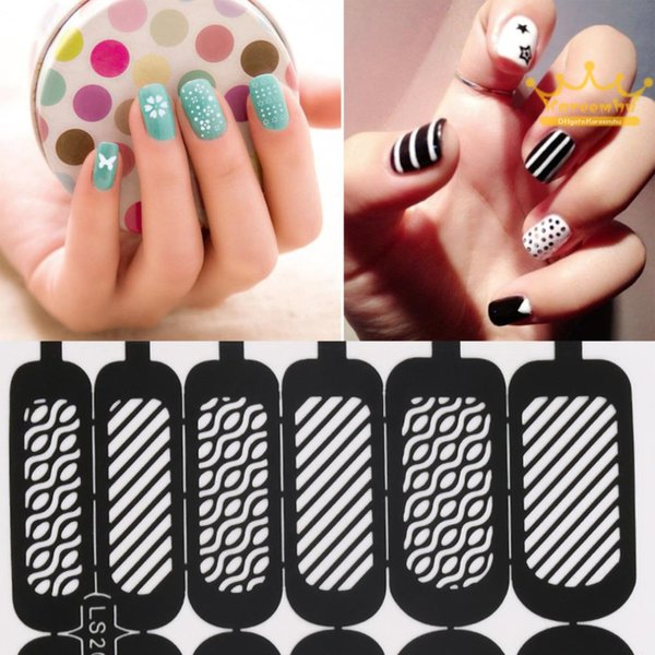 Easy Stamping Tool Nail Art Template Stickers Stamp Stencil Guide ...