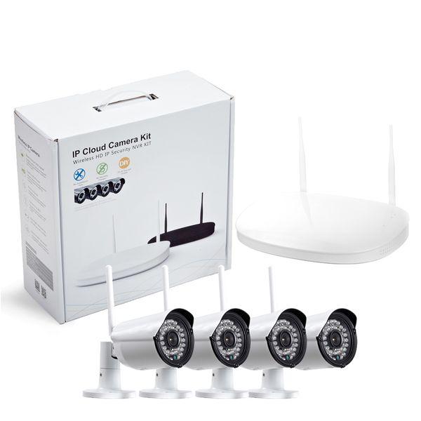 CCTV Camera IP Wireless Wifi 4CH Outdoor HD 720P NVR System 4PCS 1MP IR Outdoor P2P IP Camera Security System Surveillance Kit