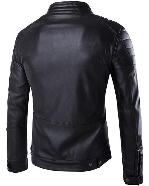 Wholesale Winter Leather Jacket Motorcycle Coat Men Outerwear Male ...