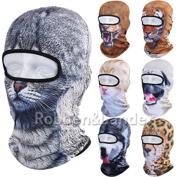 Wholesale-2016 New 3D Animal Balaclava Outdoor Bicycle Bike Cycling Motorcycle Ski Neck Hats Snowboard Party Halloween Full Face Mask
