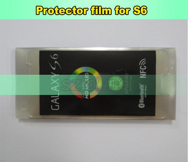 LCD Screen Plastic Seal Factory Screen Protective Film for Samsung S6 Glass Protector Repair Accessories 300pcs/lot