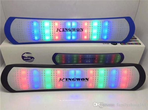 LED Flash Lighting JHW-V319 Portable Wireless Bluetooth Speaker Bulit-in Mic Handsfree speakers Support FM USB Free DHL Q-YX