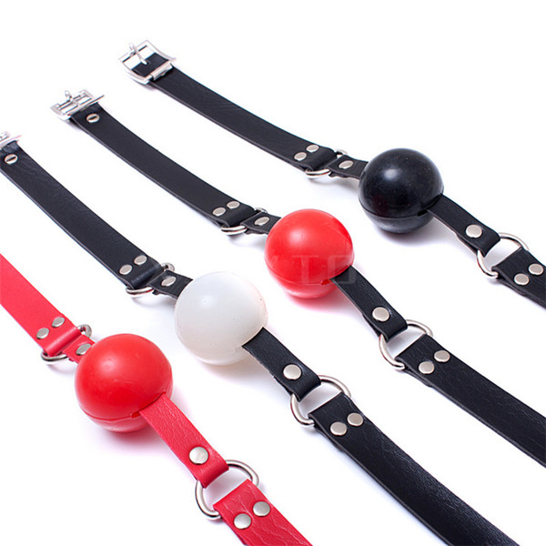 1pcs Harness Gag Bondage Head Harness with Silica gel ball horse mouth ball plug 4 color silicone rubber mouth yoke gag