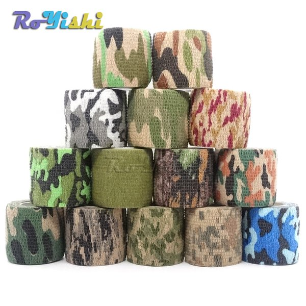 top popular 1 Roll U Pick 4.5m*5cm Waterproof Outdoor Camo Hiking Camping Hunting Camouflage Stealth Tape Wraps 2021