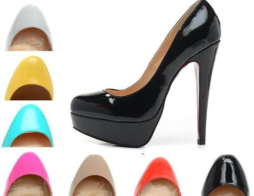 Nude Patent Leather Round Toes platform Sexy Ladies Pumps,140mm Fashion Designer Luxury Red Bottom High Heels Shoes for Womens Wedding shoes