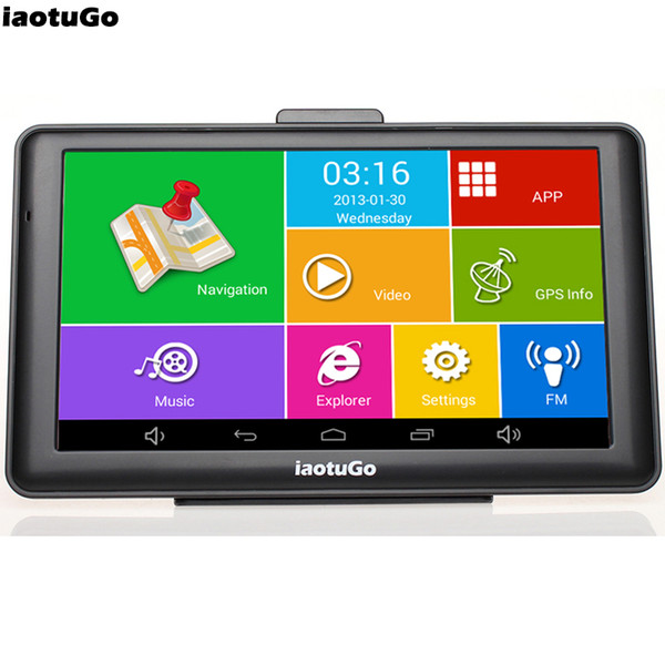 """7"""" Android GPS MTK8127 CPU,Quad Core Car Truck Navigator,IPS Capacitive,Bluetooth wifi,8G,512M,AV-in,Truck Map"""