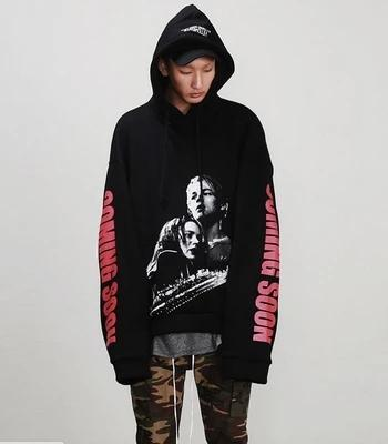 new streetwear hiphop urban brand-clothing Loose Fit Thin Hooded Sweatshirt 3D Titanic black US SIZE oversized pullover Hoodie Men Women