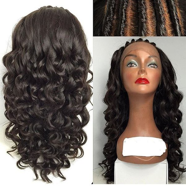 Grade 6A Peruvian Virgin Hair Lace Front Wig Loose Wave Human Hair Wavy Full Lace Wigs With Baby Hair Glueless Lace Front Wig