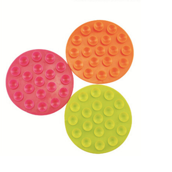 Wholesale- Double Side Magic Baby Bowl/Cup Non-Slip Mat Suction Cup Kids and Children's Tableware Sucker Stick 10.5 cm