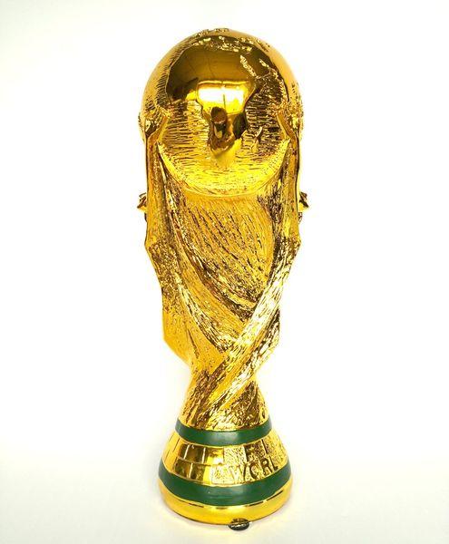 2018 Rússia Copa do Mundo de Lembranças de Futebol Troféu Tamanho Réplica Estátua de Futebol Modelo Lembranças presente Frete Grátis