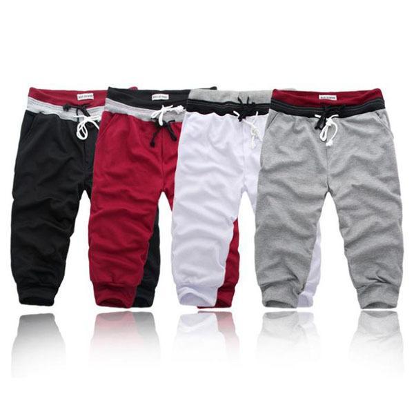 Al por mayor-S-XXL 2016 Nuevos hombres Pantalones casuales pantalones vaqueros sueltos hombres Harem pantalones 4 colores pantalon homme joggers cargo pantalones CH168