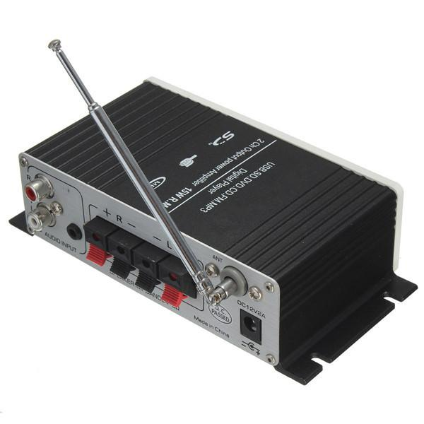 USB Mini Super Bass Amplificateur Stéréo Audio Amplificateur USB DVD CD avec FM MP3 USB Mini Super Bass Télécommande Stéréo