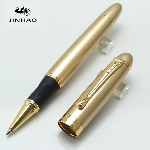 Wholesale- High Quality Jinhao X450 Gold Metal Rollerball Pen Kawaii Fashion school&office supplies pen for writing pens sales promotion