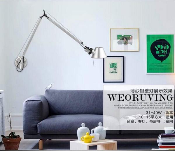 Großhandels Geführte Wandleuchte Moderne LED Wandleuchten Für Wohnzimmer  Swing Arm Wandleuchte Mit Schalter Führte Leselampen