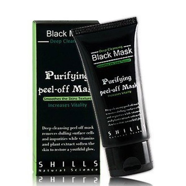 Cuidado facial Facial Peel Off Black Head Mud Black Mask Limpiador profundo Blackhead and Pimple Remover Mascarilla Blackheads Nariz Tiras