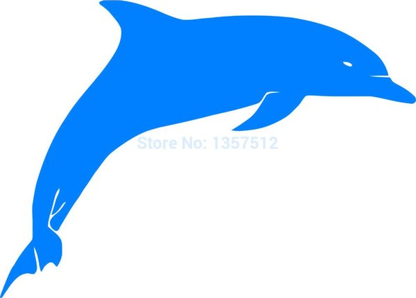 Wholesale 20pcs/lot Automobile Motorcycle Vinyl Decal Car Glass window Windshield Bumper Door SUV Auto Stickers Jdm Animal Dolphin