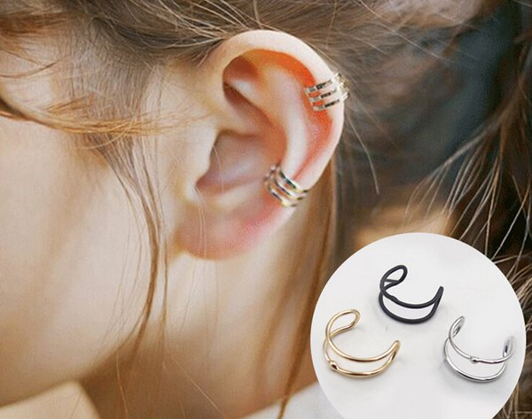 Europe and the United States punk minimalist no ear pierced ear clip personality double coil men and women u type ear clip