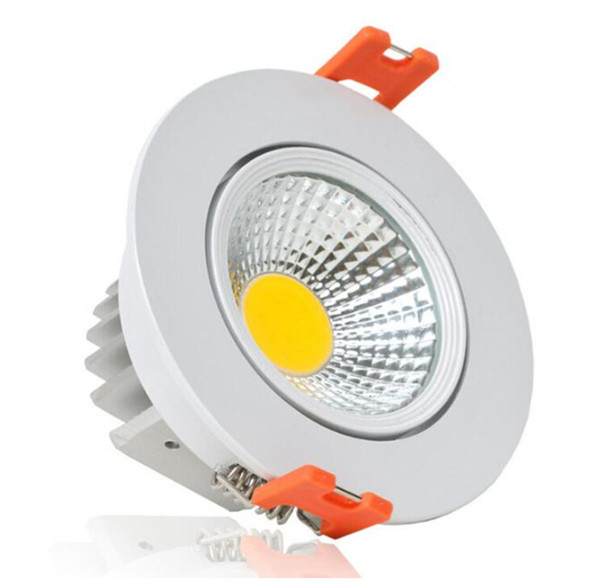 9W Dimmable COB lamp LED Down Light Recessed LED ceiling Lamp Warm White /Pure White/Cool White (2700~7500K) For Home Led lamps