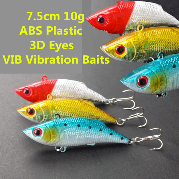 3D Holographic Eyes Vibration Bionic Artificial Fishing Lure 7.5cm 10g No lip Laser Baits Diving Depth 0.6-1.8m