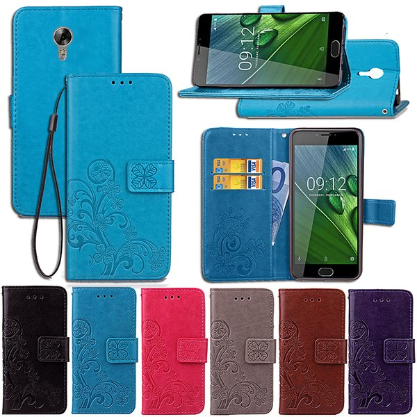 Premium PU Leather Flip Fold Wallet Case with [ID&Credit Card Slot] for Acer Z6 / Z6 Plus
