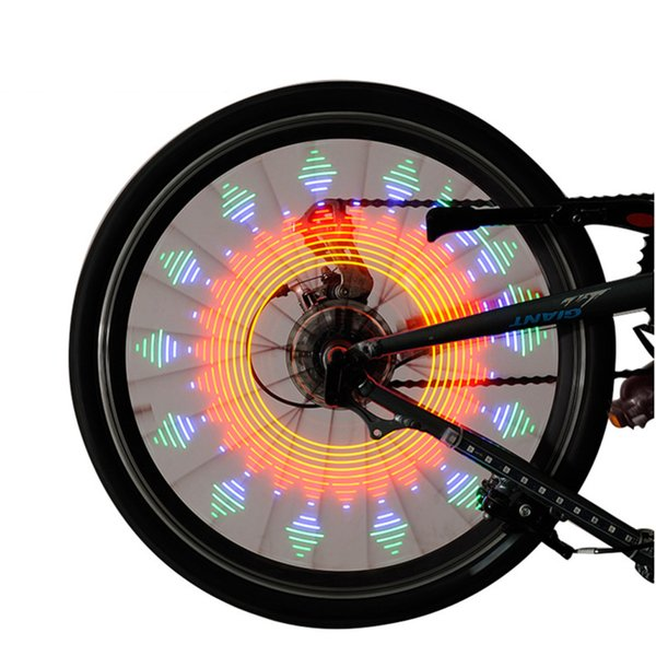 Cycling Bicycle Wheel Light Lamp Double Display 21 Flash Patterns With 32 RGB LED Lights Lamp for Bikes Drop Shipping