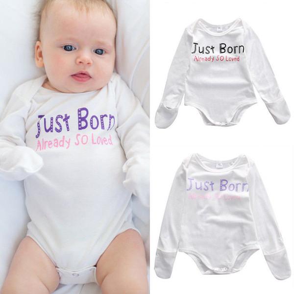 fd145c0b8 2016 kids baby outfits Newborn Infant children Boys Girls Bodysuit casual  Romper just born already so