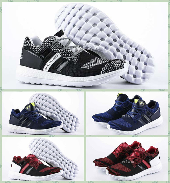 de9d3ab8b8cc 2016 Y3 Pure Boost Primeknit Boost ZG Knit Mens Athletic Y3 Shoes Pure Boost  Mens Ultra