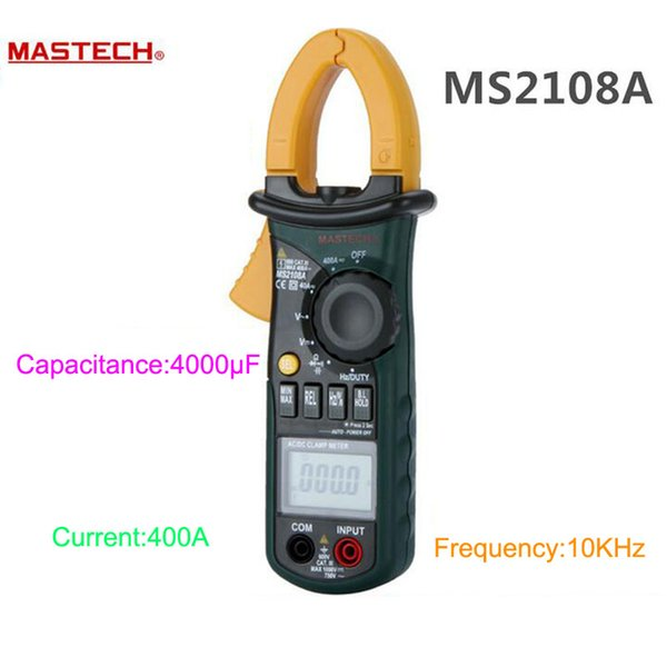 Wholesale-MASTECH MS2108A Auto range Digital Clamp Meter Multimeter DC AC Current Voltage Frequency Meter Tester Backlight