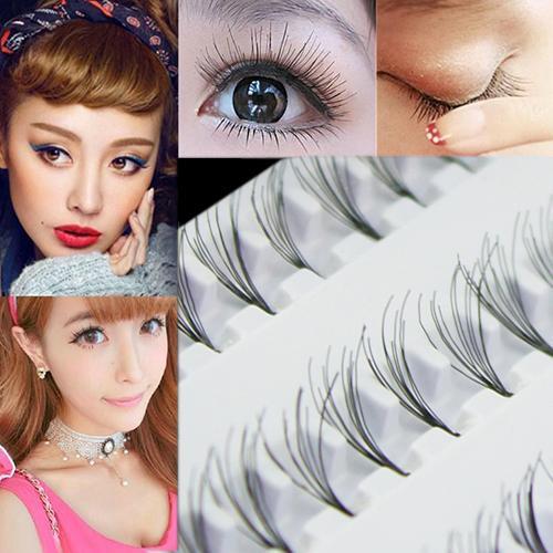 Wholesale- 2015 Black 8mm 10mm 12mm 60 Individual False Eyelash Cluster Eye Lashes Extension Tray For Make up 52X1