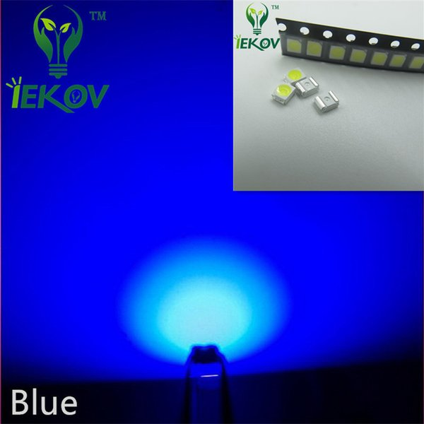 1000pcs 2835 0.2W SMD Blue LED Super Bright Light Diode High Quality SMT Chip lamp beads Suitable for bicycle and Car DIY