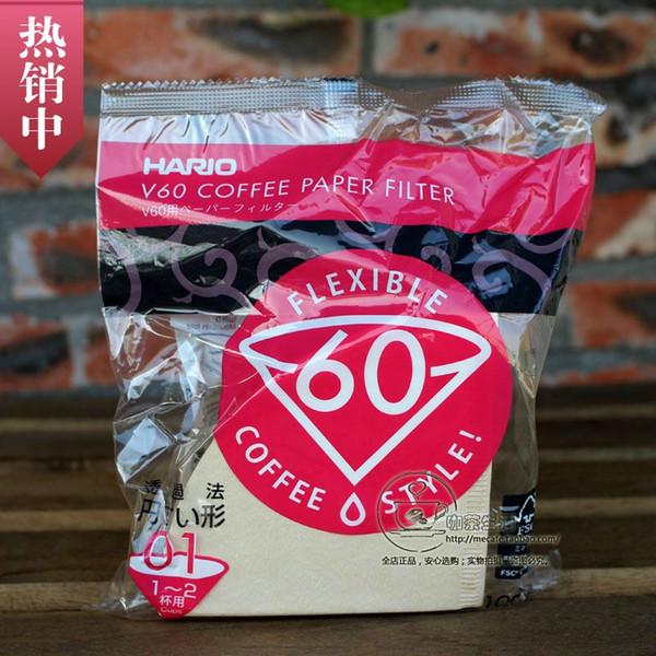 100 Filtri di carta per macchina da caffè 1-2 tazze Hario V6 Hario VCF-01-100