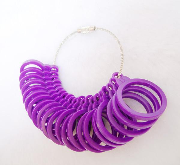 Wholesale 10pcs Plastic Ring Size Stick Mandrel Finger Gauge Ring Sizer Measuring Sizes Jewelry Tool Set 3-13