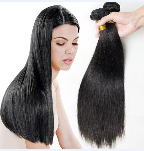 El pelo recto indio teje 8A alta calidad 100% sin procesar Extensiones de cabello humano suave 8-30 pulgadas 2pcs / lot Dyable Tarifa de envío gratis DHL
