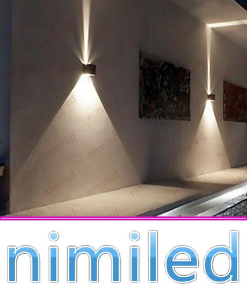 nimi971 6W Alluminio Luce Angolo Regolabile LED per Esterni Impermeabili Lampade da Parete Divano Sfondo TV Lampade Corridoio Corridoio Scale