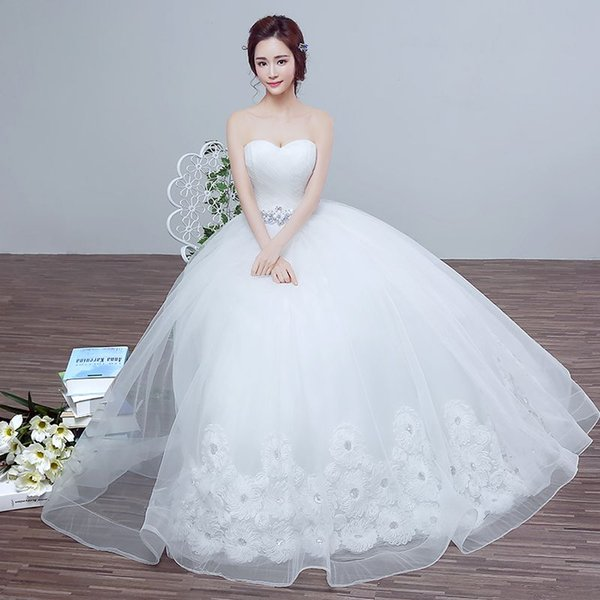 2016 New Spring Wedding Bride Wedding Dress Size Korean Princess ...