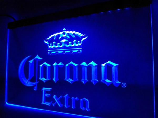 LE013-Corona Extra Bar Beer Pub Cafe LEVOU Luz Neon Sign home decor artesanato