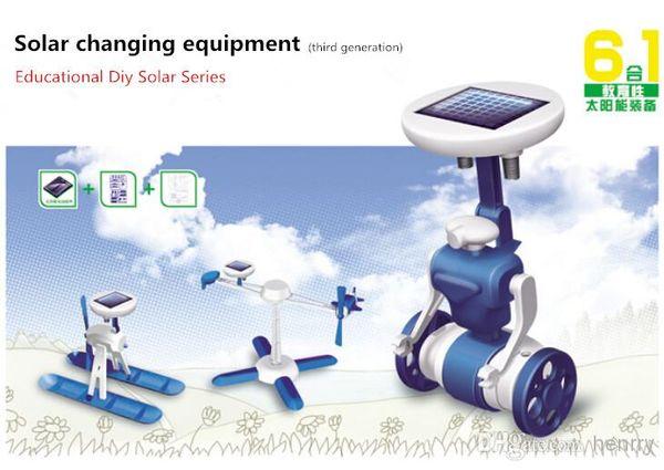 Altı çeşit oyun oynanır, üçüncü nesil güneş oyuncakları / eğitici bilim oyuncakları / DIY ROBOT