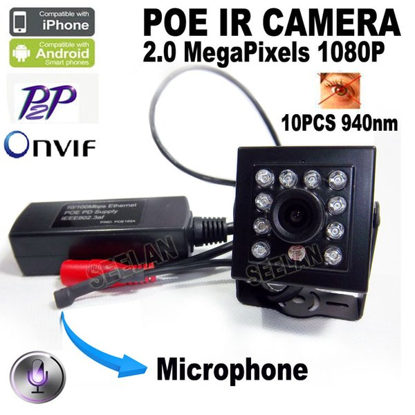 1080p mini-caméra ip hd vision nocturne 940nm infrarouge POE mini-caméra ip avec réseau infrarouge coupé réseau caché Onvif IR IP POE mini-caméra IP Poe