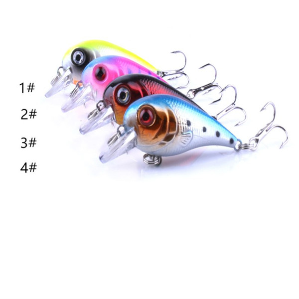 Hot Sale Roll Fishing Lures Crankbaits 4PCS Non-polluting Plastic Fake Baits 5cm 5g Minnow Hard Baits of Colorful Fishing Tackle