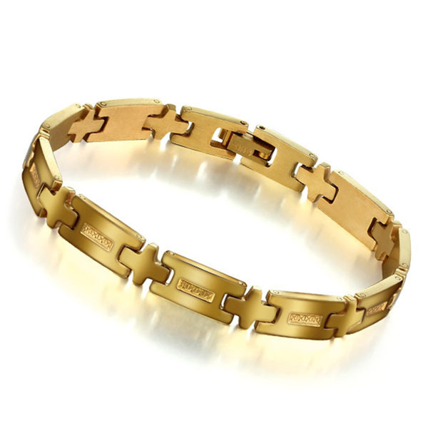 Foreign trade jewelry Korean Fashion Jewelry Gold Bracelet Mens Titanium jewelry care BA101128