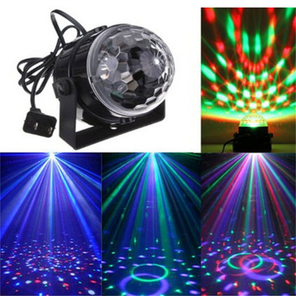 2PCS Mini Magic Ball Stage Lights effect Rotating Effect Bar Disco DJ Party Magic Ball Lamp AC110V220V holiday lighting socket US EU