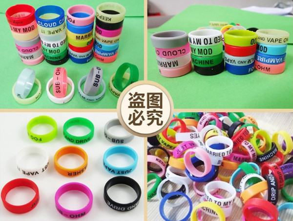 Free DHL Drop Shipping 500pcs 22mm Personalized Vape Bands Silicone Bracelet Customized Vapor Band Silicone Ring For RDA Mods
