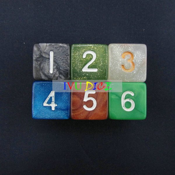 20pcs Cube 6 sided 1-6 DND D6 Table BOARD GAME Dungeons&Dragons Magic 6 six Colors bosons Party Children dices IVU