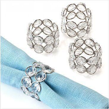 Free shipping Acrylic Crystal wedding party table decoration 100 piece/lot napkin ring Dia-5cm Height-4cm Serviette Holder